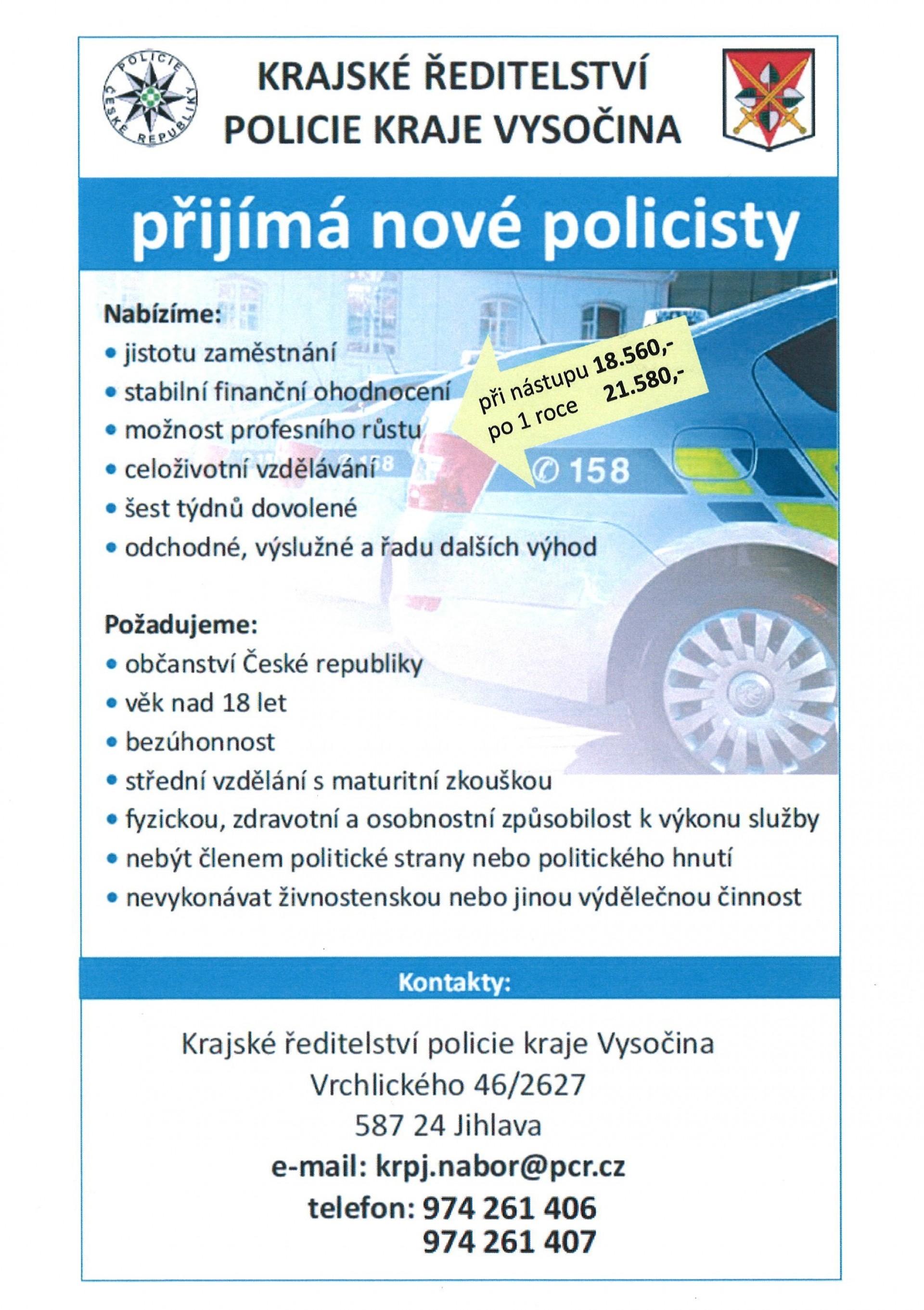 Chcete se stát novým policistou či policistkou?